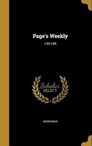Bog, hardback Page's Weekly; V.03 N.03