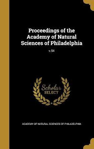 Bog, hardback Proceedings of the Academy of Natural Sciences of Philadelphia; V.54