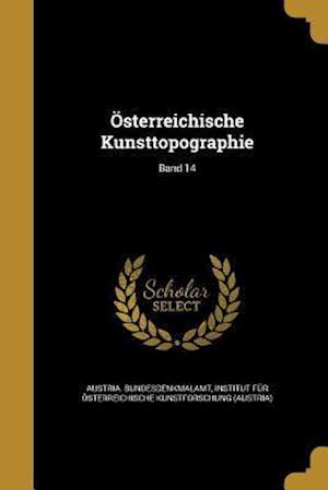 Bog, paperback Osterreichische Kunsttopographie; Band 14