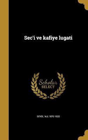 Bog, hardback SEC'i Ve Kafiye Lugati
