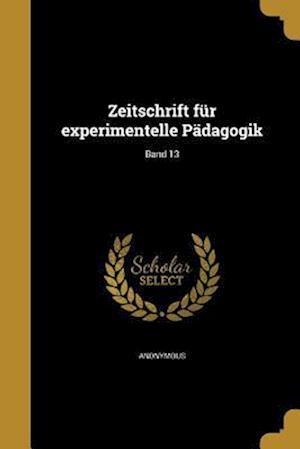 Bog, paperback Zeitschrift Fur Experimentelle Padagogik; Band 13
