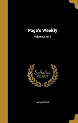 Bog, hardback Page's Weekly; Volume 3, No. 4