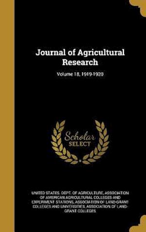 Bog, hardback Journal of Agricultural Research; Volume 18, 1919-1920