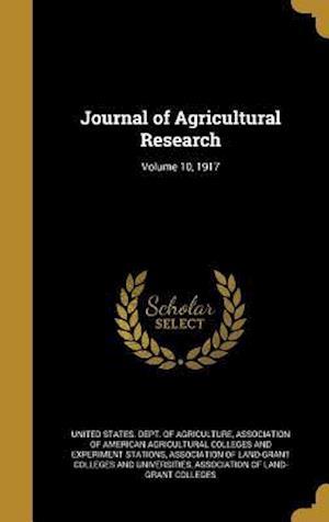 Bog, hardback Journal of Agricultural Research; Volume 10, 1917