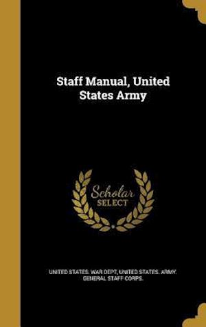 Bog, hardback Staff Manual, United States Army