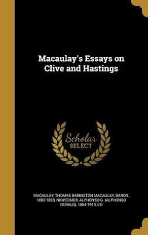 Bog, hardback Macaulay's Essays on Clive and Hastings