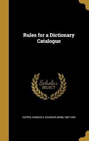 Bog, hardback Rules for a Dictionary Catalogue
