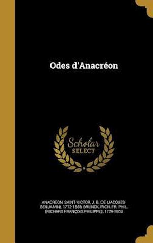 Bog, hardback Odes D'Anacreon