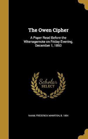 Bog, hardback The Owen Cipher