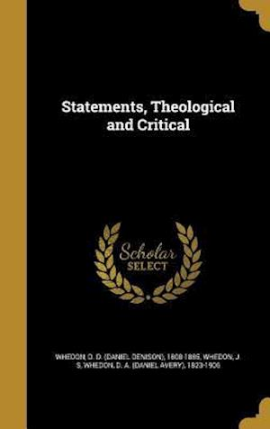 Bog, hardback Statements, Theological and Critical