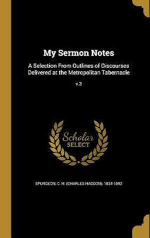 Bog, hardback My Sermon Notes