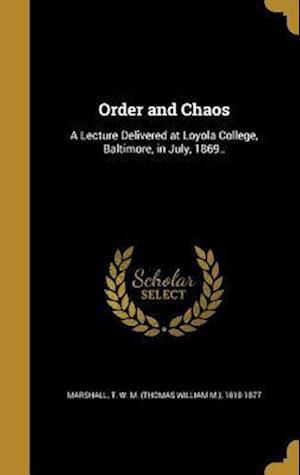 Bog, hardback Order and Chaos