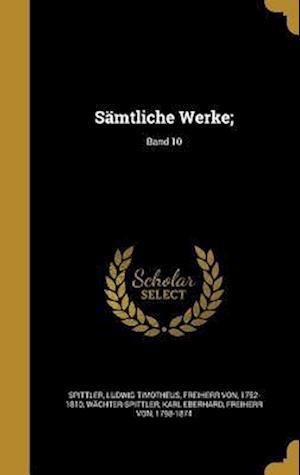 Bog, hardback Samtliche Werke;; Band 10