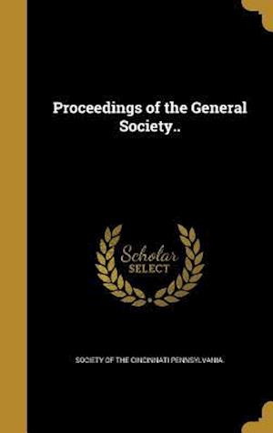 Bog, hardback Proceedings of the General Society..