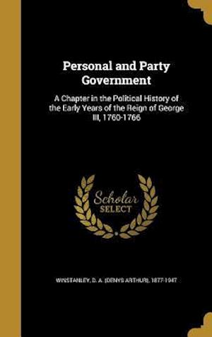Bog, hardback Personal and Party Government