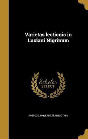 Bog, hardback Varietas Lectionis in Luciani Nigrinum