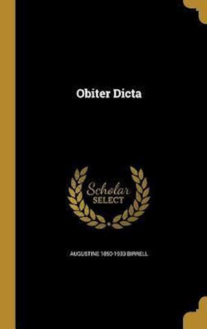 Bog, hardback Obiter Dicta af Augustine 1850-1933 Birrell