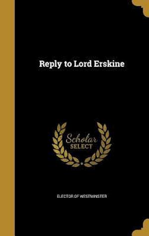 Bog, hardback Reply to Lord Erskine