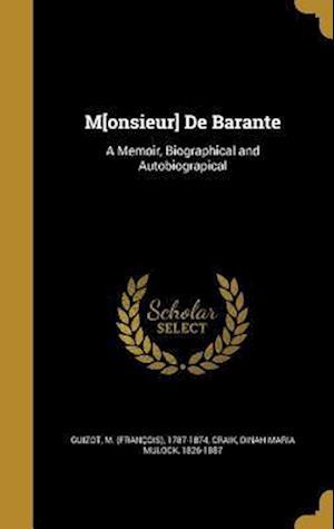 Bog, hardback M[onsieur] de Barante