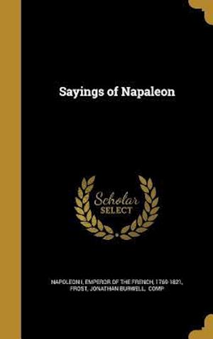 Bog, hardback Sayings of Napaleon