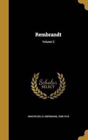 Bog, hardback Rembrandt; Volume 3
