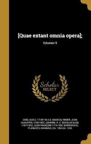 Bog, hardback [Quae Extant Omnia Opera];; Volumen 9