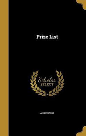 Bog, hardback Prize List