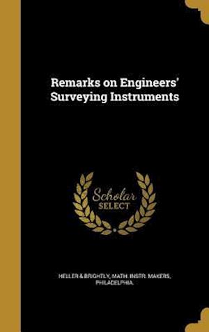 Bog, hardback Remarks on Engineers' Surveying Instruments
