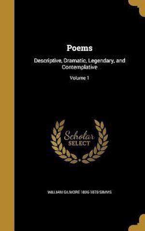 Bog, hardback Poems af William Gilmore 1806-1870 Simms