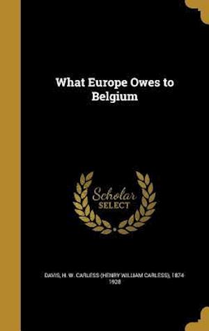 Bog, hardback What Europe Owes to Belgium