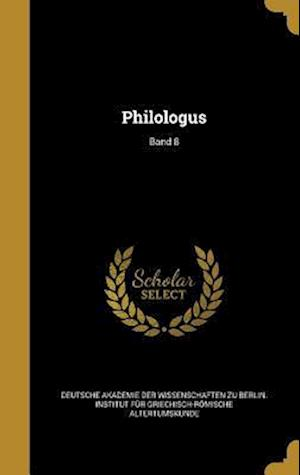 Bog, hardback Philologus; Band 8