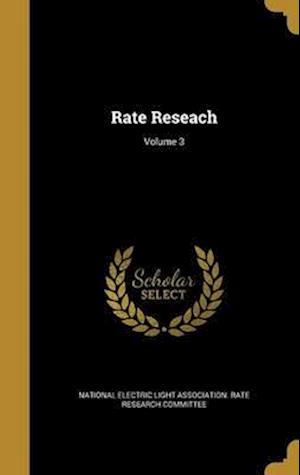 Bog, hardback Rate Reseach; Volume 3