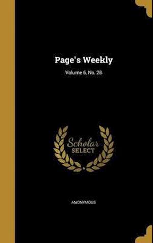 Bog, hardback Page's Weekly; Volume 6, No. 28