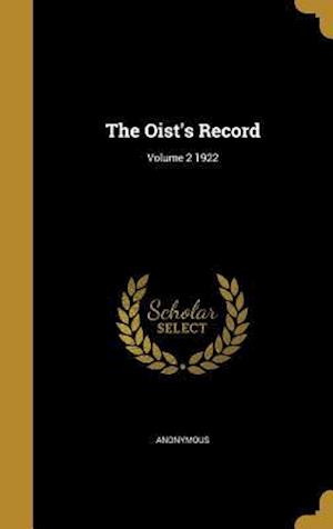Bog, hardback The Oist's Record; Volume 2 1922