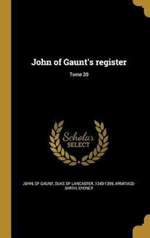 Bog, hardback John of Gaunt's Register; Tome 20