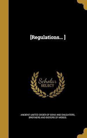 Bog, hardback [Regulations... ]