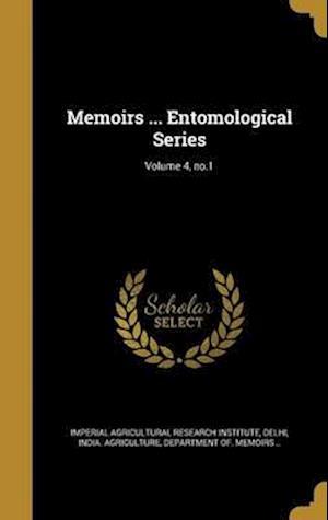 Bog, hardback Memoirs ... Entomological Series; Volume 4, No.1