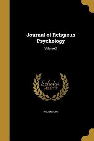 Bog, paperback Journal of Religious Psychology; Volume 2