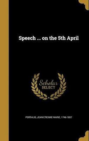 Bog, hardback Speech ... on the 5th April