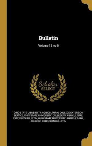 Bog, hardback Bulletin; Volume 13 No 9