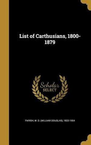 Bog, hardback List of Carthusians, 1800-1879