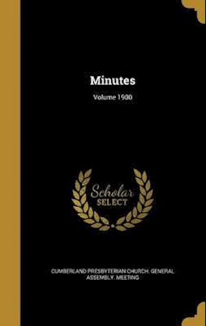 Bog, hardback Minutes; Volume 1900