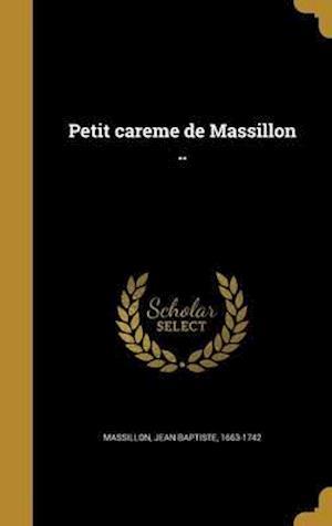 Bog, hardback Petit Care Me de Massillon ..