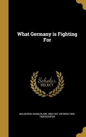 Bog, hardback What Germany Is Fighting for af Dietrich 1845-1929 Schafer