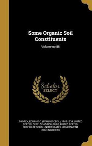 Bog, hardback Some Organic Soil Constituents; Volume No.88