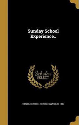 Bog, hardback Sunday School Experience..
