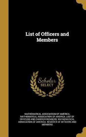 Bog, hardback List of Officers and Members