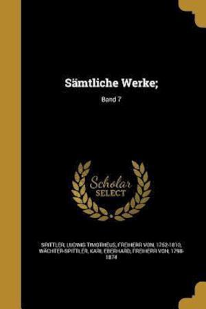 Bog, paperback Samtliche Werke;; Band 7