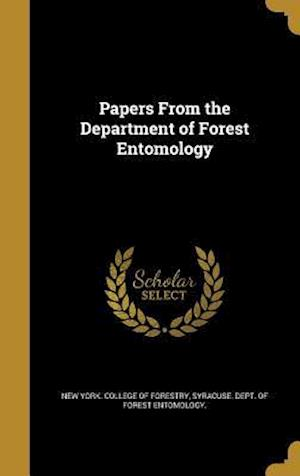 Bog, hardback Papers from the Department of Forest Entomology