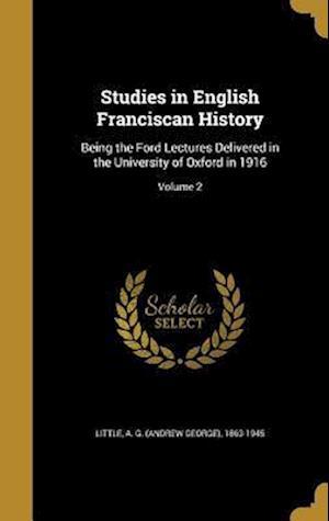 Bog, hardback Studies in English Franciscan History